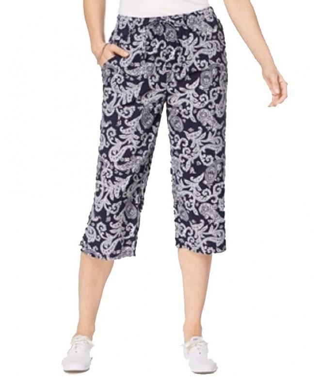 Karen Scott Printed Capri Pants