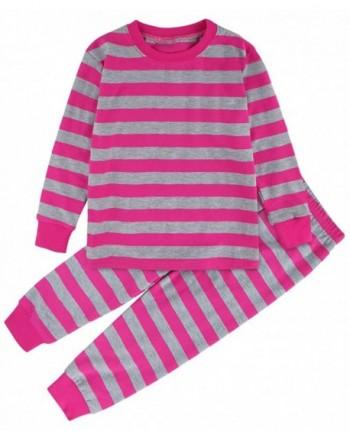 DESIGN Girls Striped Pajamas Sleeve