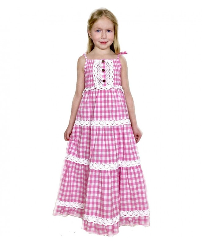 Jennifer June Gingham Tiered Dress