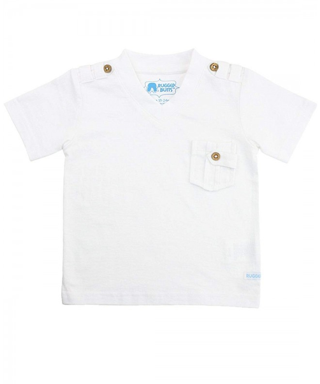 RuggedButts Little Short Sleeve V Neck