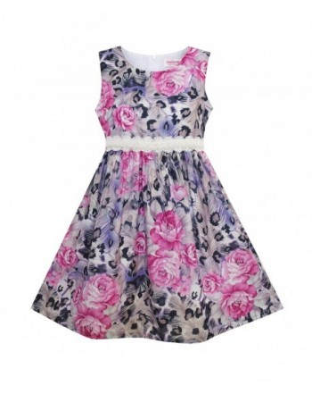Sunny Fashion Purple Flower Sleeveless