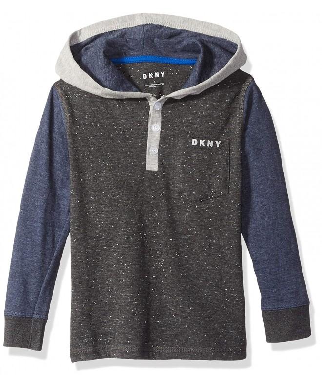DKNY Sleeve Flecked Hooded Pocket