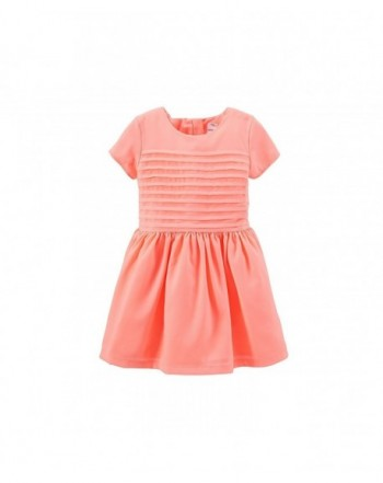 Carters Little Girls Crepe Pintuck