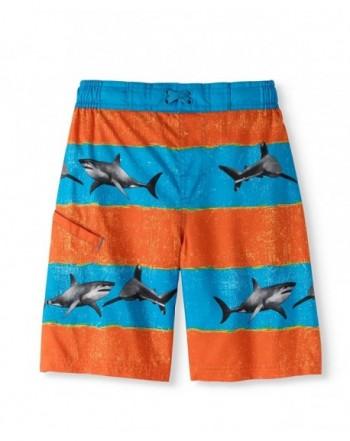 Sharks Orange Stripes Trunk Shorts