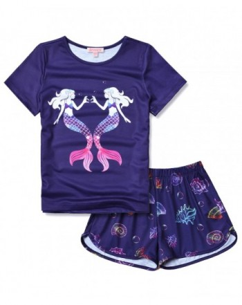 Mermaid Pajamas Sleeve Summer Clothes