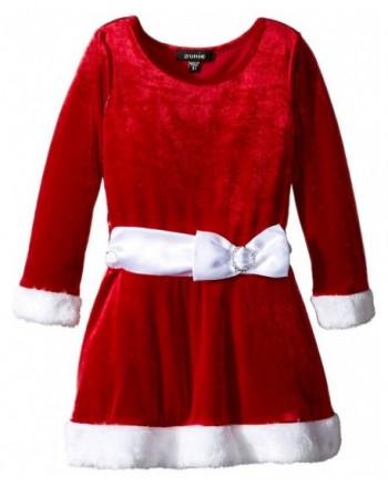 Zunie Girls Velvet Dropwaist Santa
