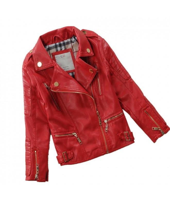 LJYH Childs Motorcylce Leather Multicolor