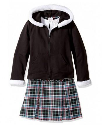 Youngland Girls Ribbed Hooded Sweatshirt