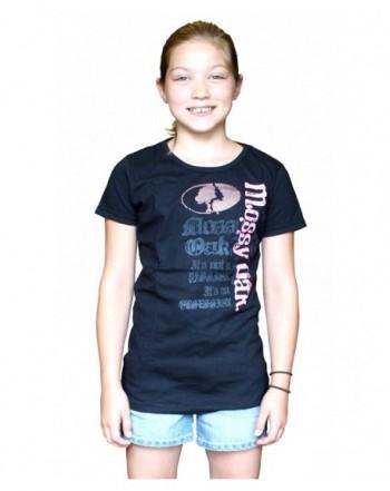 MOSSY Girls Black Pink T Shirt