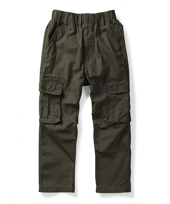 OCHENTA Boys Lightweight Cargo Pants