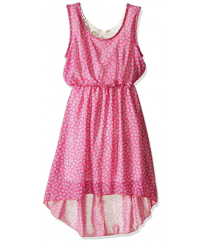 BTween Girls Printed Chiffon Crochet