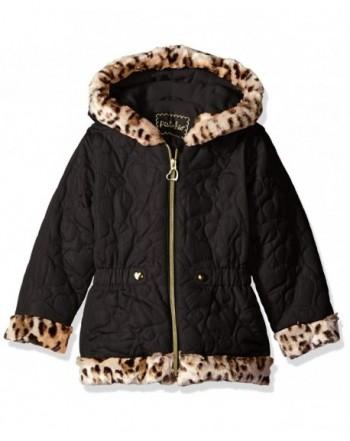 Pistachio Girls Heart Quilted Jacket