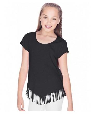 Kavio Girls Jersey Fringe Sleeve