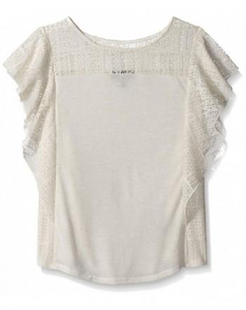 Amy Byer Girls Knit Lace