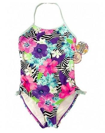 SO Purple Floral Piece Swimsuit