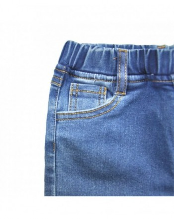 AIMBAR Kids Girls Fashion Slim Elastic Waist Denim Pant Jeans Size 4-13 Years