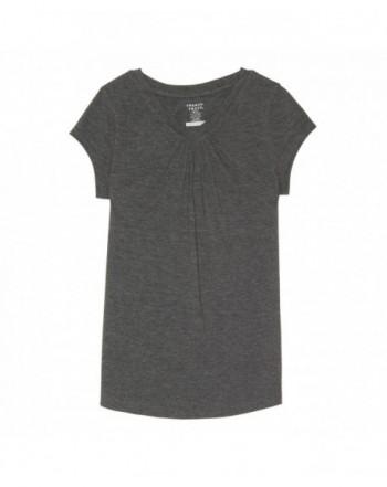 French Toast Sleeve V Neck T Shirt