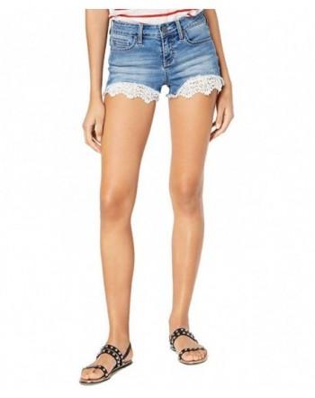 Blue Desire Juniors Lace Hem Shorts