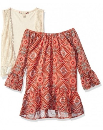 Girls' Blouses & Button-Down Shirts