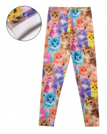 Winter Leggings Fleece Unicorn Outfits