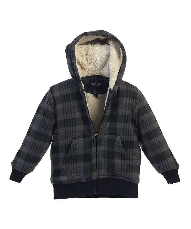 Gioberti Flannel Hoodie Jacket Sherpa
