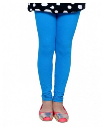 Indistar Girls Cotton Turquoise Legging_11 12