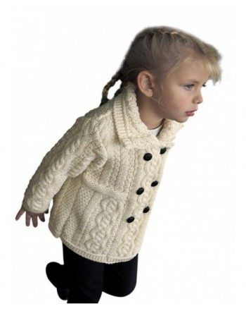Double Breasted Girls Wool Knit