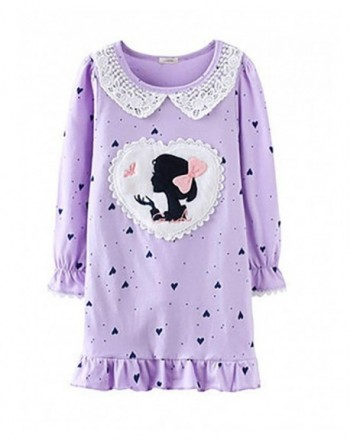 Abalaco Princess Cartoon Nightgown Sleepwear