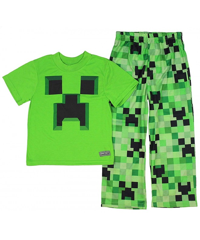 Boys Minecraft Creeper 2 Piece Pajama