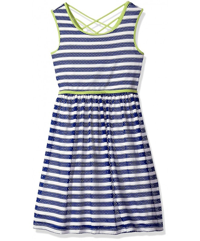 Speechless Girls Stripe Piping Dress