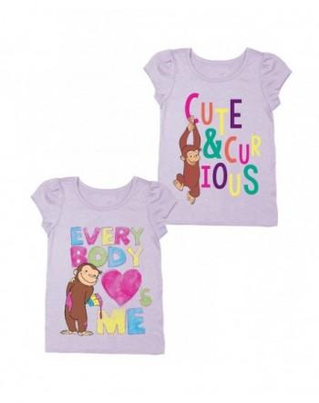 Girls Curious George Shirt Set