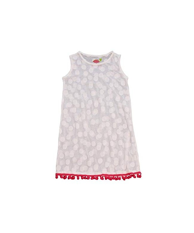 b7a12ba7f8 Kid's Dress Cover-up with Pom Poms - White and Pink - CU18LNEUTIK