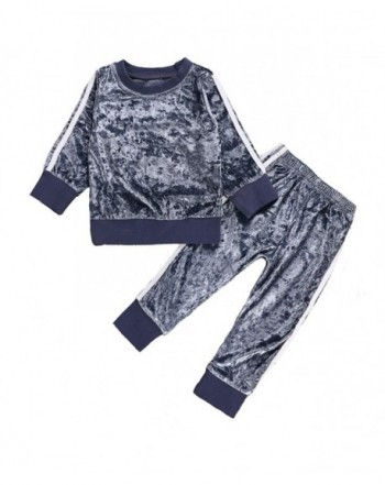 puseky Toddler Velvet Tracksuit Outfits