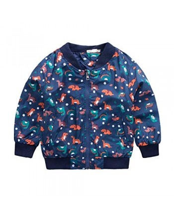 Tkria Cartoon Dinosaur Printed Raincoat