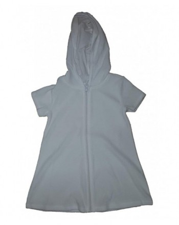 Girls Terry Hooded Swimsuit Arctic