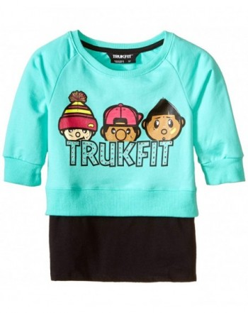 Trukfit Little Girls Sweatshirt Layering