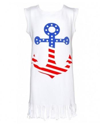 Unique Baby Sleeveless Patriotic Anchor