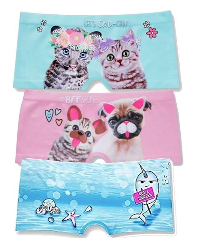 2 Pack Justice Girls Shortie Panties Size 8//10