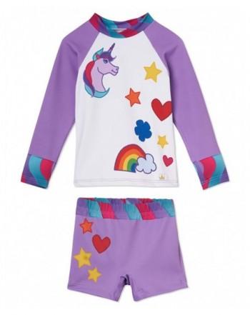 Little Girls Unicorn Swimsuit Shorts