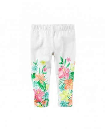 Carters Girls Floral Print Leggings