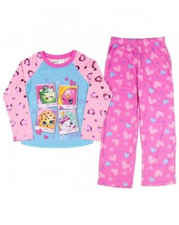 Shopkins Girls Long Sleeve Pajamas