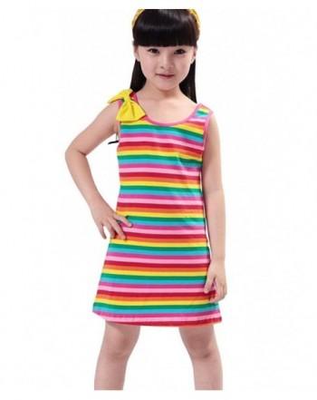 Niyage Rainbow Striped Sundress Sleeveless