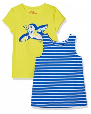 Awesome Girls 2 Pack Striped Embroidered