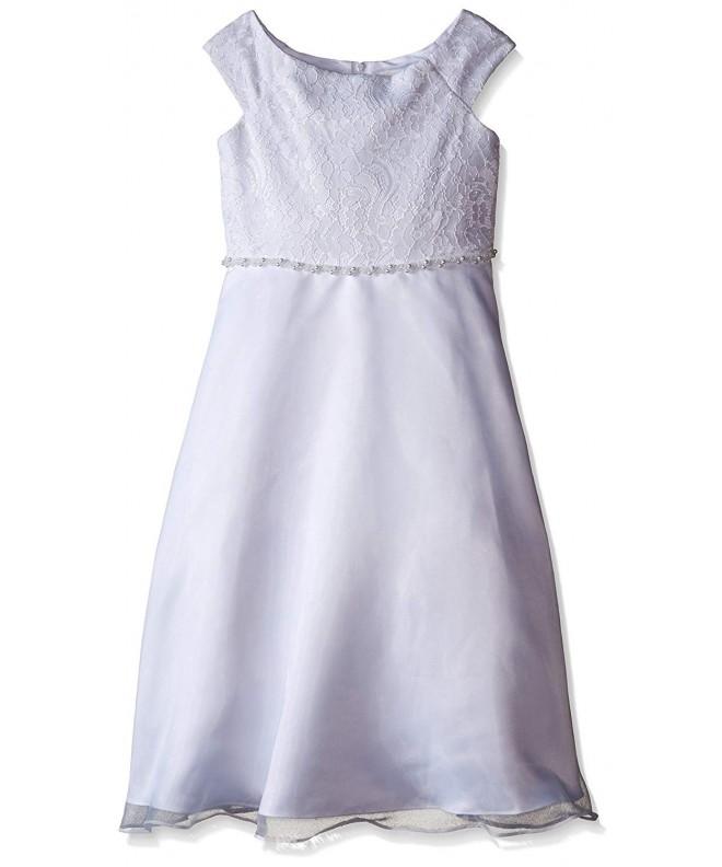 Lavender Girls Sleeve Bodice Beaded