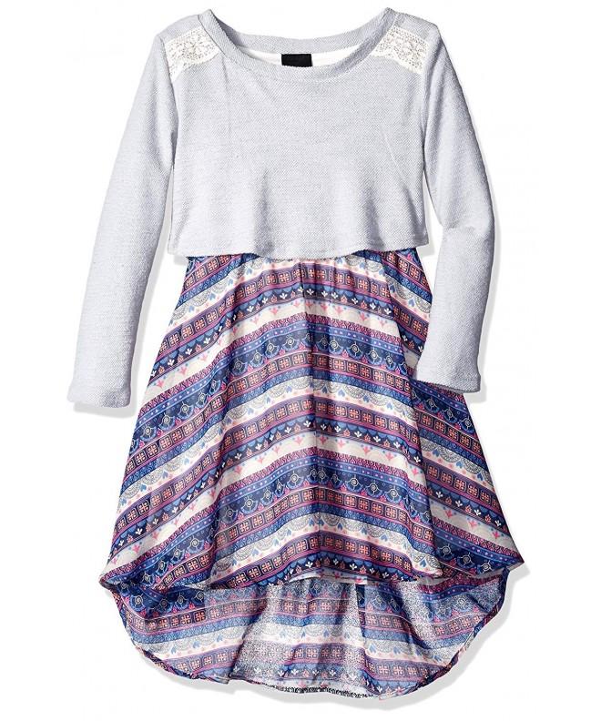 Girls Rule Popover Aztec Dress