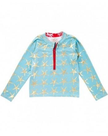 Masala Kids Rashguard Starfish Turquoise