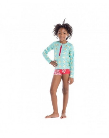 Brands Girls' Rash Guard Shirts for Sale