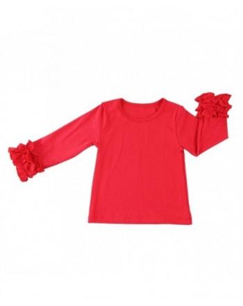 Wennikids Little Long Sleeve Ruffle T Shirt