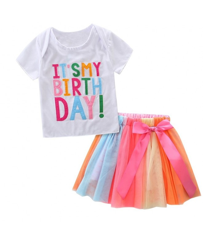 HBER Toddler Birthday Outfits Colorful