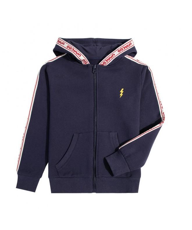 UNACOO Zip up Sweatshirt Lighting Embroided